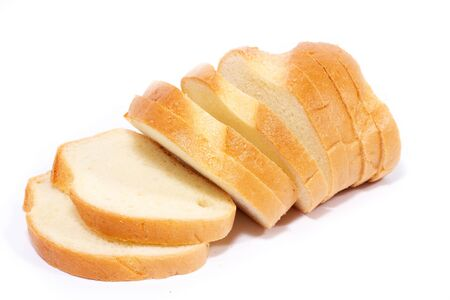 small slices of sliced bread isolated on a white background. Quick Access Snack