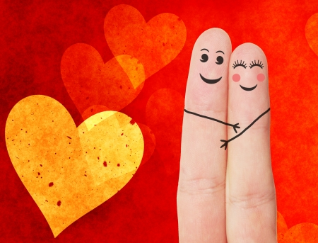 funny love: Funny fingers  Stock Photo