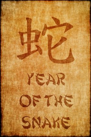 Chinese sterrenbeeld jaar als de slang