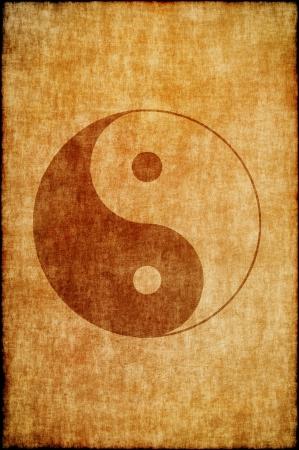 yang yin: Cinese signo yin yang Foto de archivo