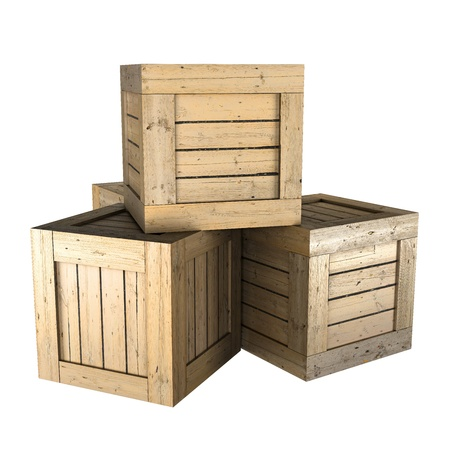 wooden crate: Wooden crates Stock Photo
