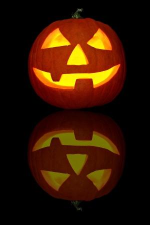 scary pumpkin Stock Photo