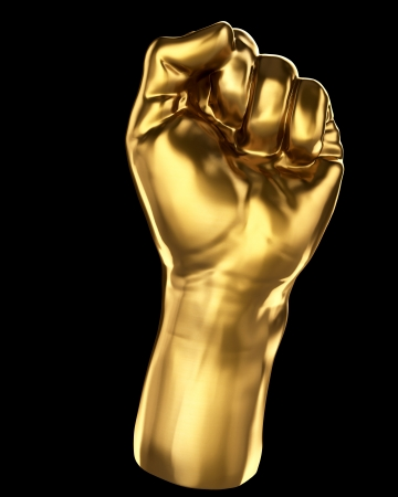 forearm: Gold fist