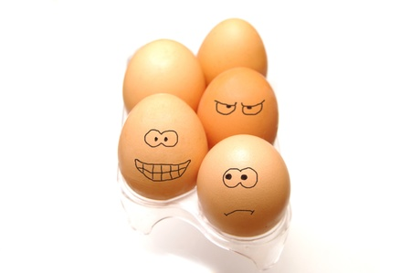 Funny eggs collection photo