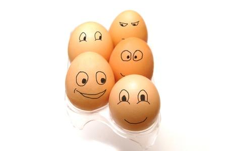 面白い卵コレクション 写真素材