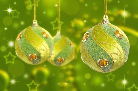 Kerstballen Stockfoto