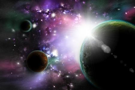 astrologie: Im Weltraum Lizenzfreie Bilder