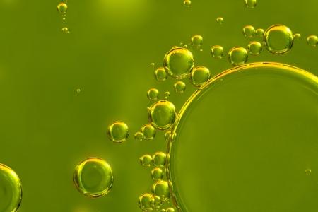 Oil drops closeup