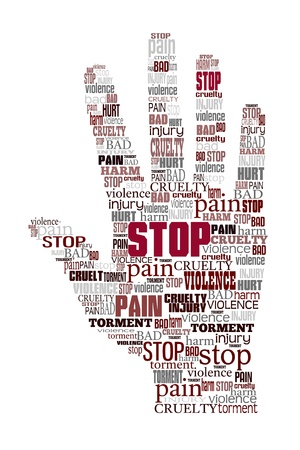 Word cloud stop violence  photo