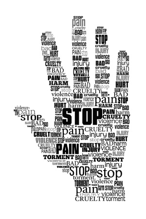 symbol victim: Word cloud stop violence