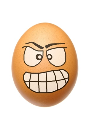 unkind: Egg with malignant face