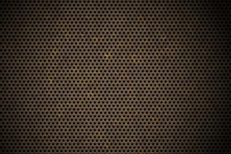 metal grate: perforated metal background