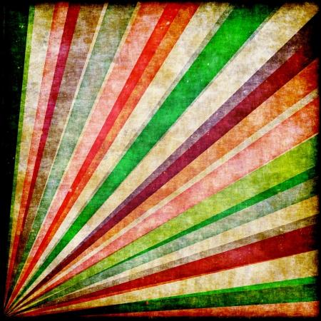 fete: Multicolor Sunbeams grunge background  Retro poster