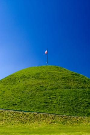 Flag of Polandon the peak mound