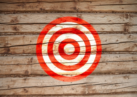 target painted on the wall, red and white