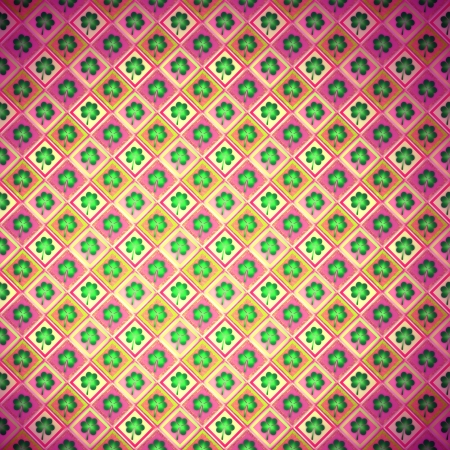 Shamrock Paper, wrapping paper, clover Stock Photo - 18011122