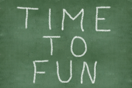 chalkboard with writing words time to fun  Stock Photo - 18010518