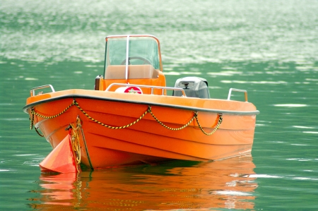 lifeboat: Rescue boat on the water