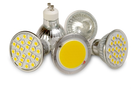 効率的な光源は、白で隔離
