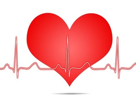 oscillate: Electrocardiogram, ecg, graph, pulse tracing