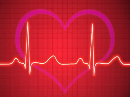 ecg heart: Electrocardiogram, ecg, graph, pulse tracing