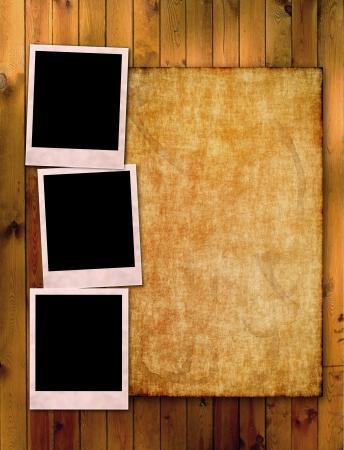 机の上の写真