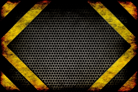Hazard background  warning lines, black and yellow  photo