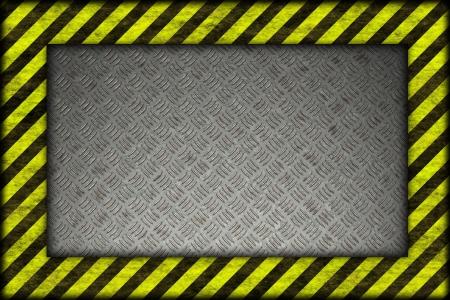 Hazard background. warning lines, black and yellow Stock Photo - 20599796