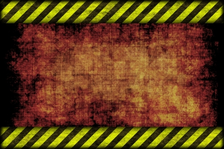 Hazard background. warning lines, black and yellow  photo
