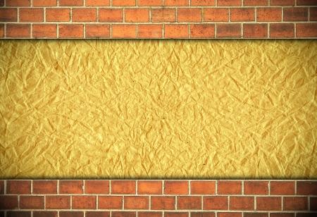 plaster wall: ladrillo y pared de yeso