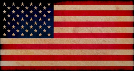 usa flag on grungy background photo