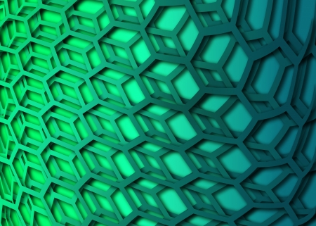 recurrent curved hexagonal wallpaper, background photo