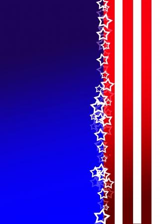 愛国的な背景、アメリカ色