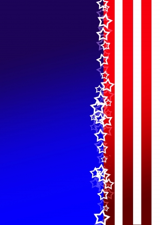Patriotic background, USA colours