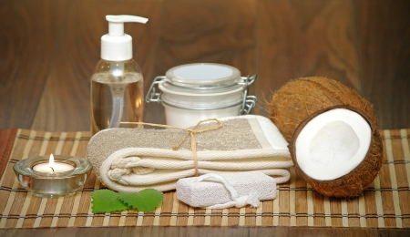 Set for spa with natural ingredients