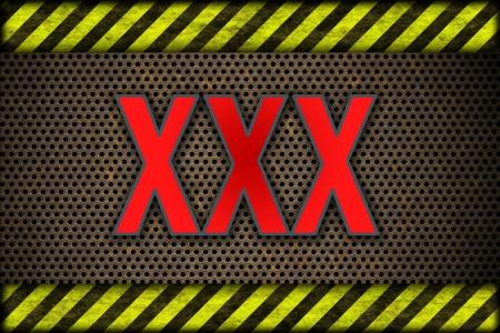 XXX Hazard background warning lines, black and yellow  photo