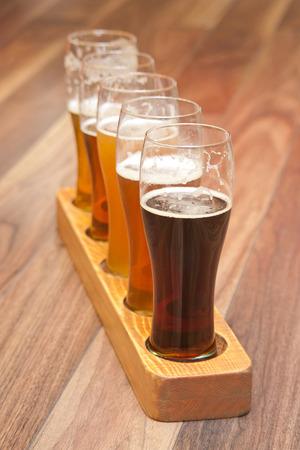 pilsner beer glass: Beer Flight  different kinds of beer