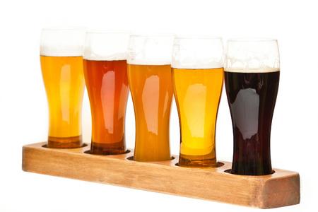 ビールのビール飛行種類 写真素材