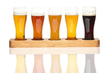Bier Vlucht verschillende soorten bier Stockfoto