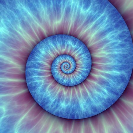 inner beauty: Abstract spiral pattern. fibonacci pattern