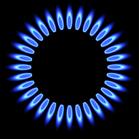 Natural gas flame. gas stove burner