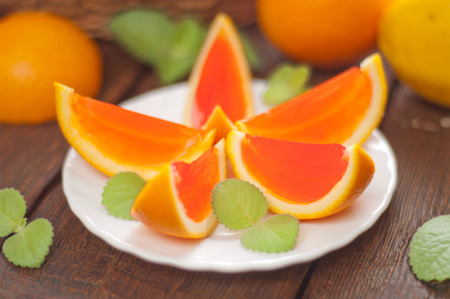 jelly orange slices on a plate