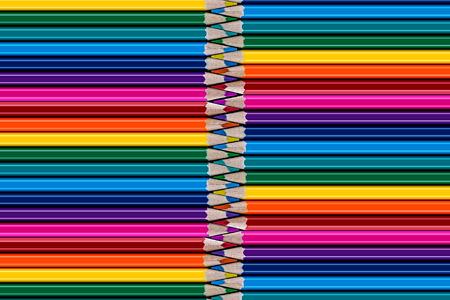 Range of colored pencils