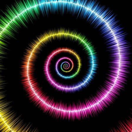 Spiral sound wave background Reklamní fotografie