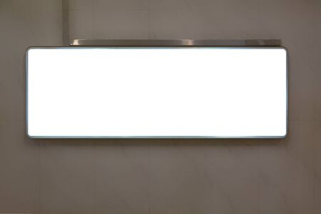 Mockup of a blank white advertising billboard on subway wall Banque d'images - 132956786