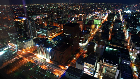 sapporo: Sapporo of the new Japanese three big night view