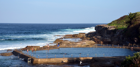 nsw: Outdoor swimming pool at Malabar beach (Sydney, NSW, Australia)
