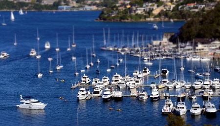 nsw: Moore yachts at The Spit (Sydney, NSW, Australia) Stock Photo