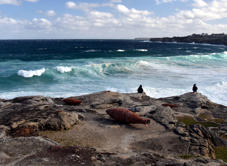 Sydney, Australia - Oct 23, 2016 Andrew Burton Vessels. Sculpture by the Sea Bondi to Coogee along the coastal walk is The Worlds Largest free to the public sculpture Exhibitions.