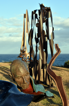 Sydney, Australia - Oct 23, 2016 Lou Lambert: Boolaloo. Sculpture by the Sea Bondi to Coogee along the coastal walk is The Worlds Largest free to the public sculpture Exhibitions. Editorial